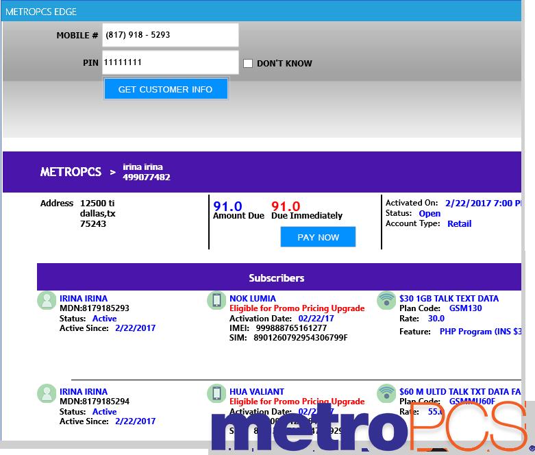 Metro Pcs Codes Activation